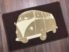 NON SLIP DOORMAT 50X80CM GEL BACKING TOP QUALITY CAMPER DESIGN NEW COLOUR BROWN